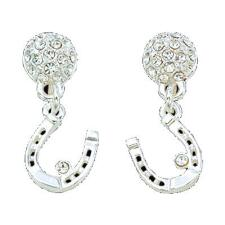 Crystal Dangle Horseshoe Earrings