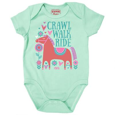 Farm Girl Crawl Walk Ride Infant Creeper