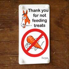 Fergus Do Not Feed Treats Sign - TB