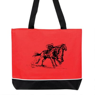 Tote Bag with Race Horse