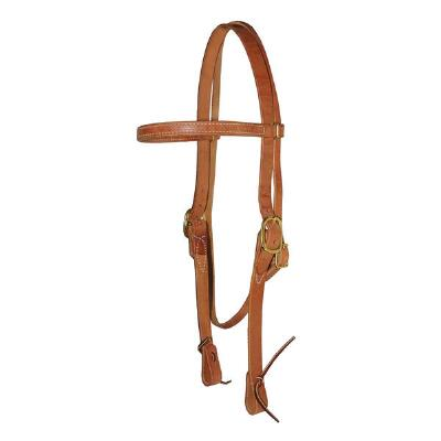 Browband Headstall With Ties 1 Inch