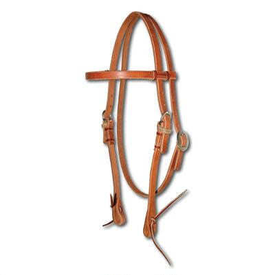 Browband Headstall No Stitching With Ties