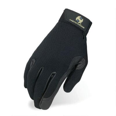 Heritage Performance Kids Riding Glove Black