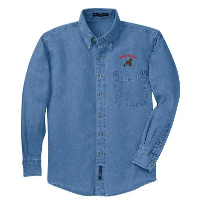 Denim Shirt Custom Embroidered Mens