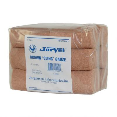 Gauze Cling 3in. Roll Brown 12 Pack