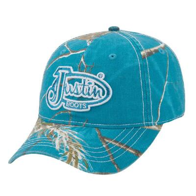 Justin Boots Turquoise Camo Ladies Baseball Cap