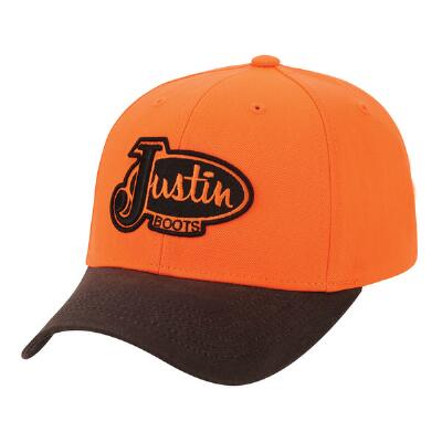 Justin Boots Blaze Orange Baseball Cap