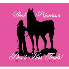 Real Princesses Dont Kiss Toads Girls Tee - TB