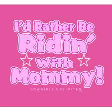 Ridin With Mommy Toddler Girls Tee - TB
