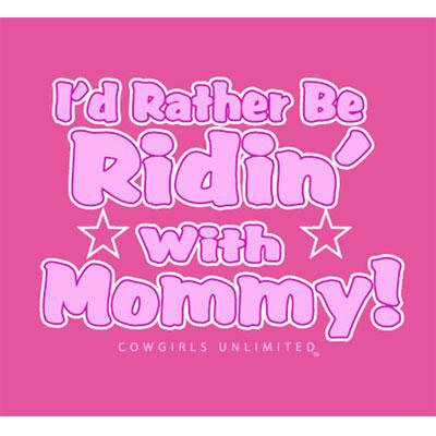 Ridin With Mommy Toddler Girls Tee