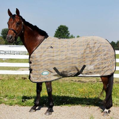 Fly Sheet Mesh Black Tan Plaid