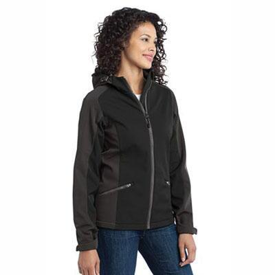 Ladies Custom Soft Shell Jacket Full Back and Left Chest Embroidered