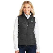 Ladies Puffy Vest with Custom Left Chest Embroidery - TB