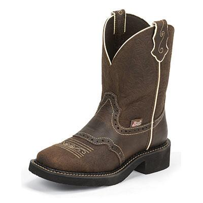 Justin Gypsy Brown Ladies Western Boot