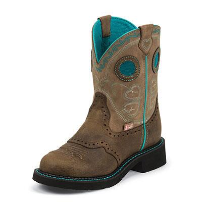 Gypsy Light Blue Accent Ladies Western Boot