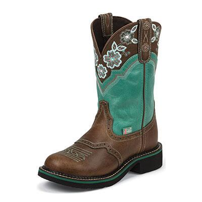 Justin Gypsy Turquoise Pattern Ladies Western Boot