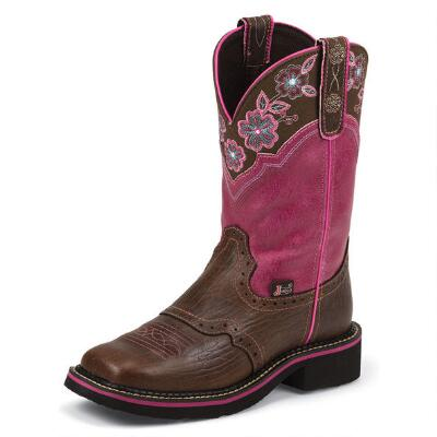 Justin Gypsy Magenta Pattern Ladies Western Boot