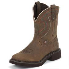 Justin Gypsy Square Toe Barnwood Brown Ladies Western Boot