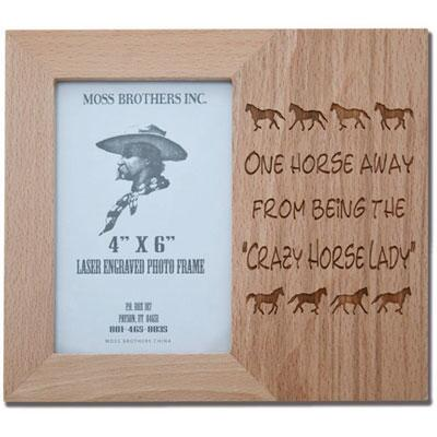 Horses Unlimited Crazy Horse Lady Picture Frame