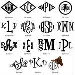 Monogramming Small Text 3 Letters