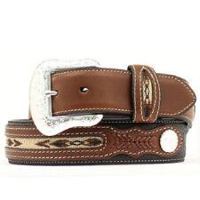 Nocona® Two Tone Mens Western Belt Navajo Inlay - TB