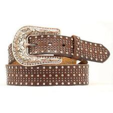 Nocona Bronze Brown Studded Ladies Belt