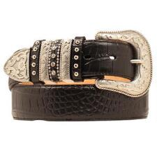Nocona Black Croc Print Multi Keeper Ladies Belt