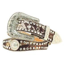 Scalloped Mossy Oak Camo Rhinestone Ladies Belt - TB