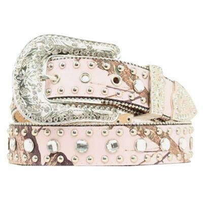 Pink Mossy Oak Ladies Belt