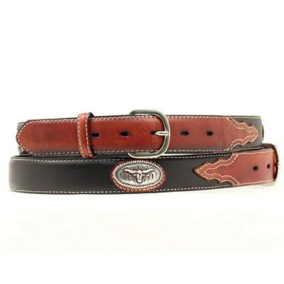 Nocona Steerhead Concho Two Tone Boys Belt