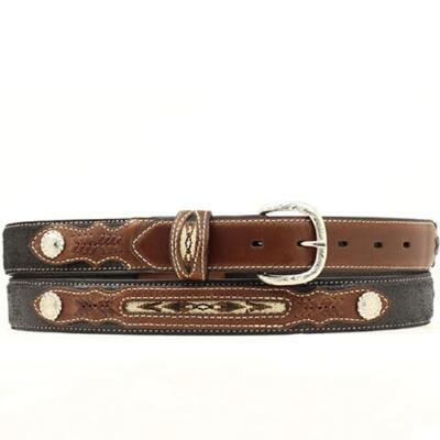 Nocona® Two Tone Boys Belt Navajo Inlay