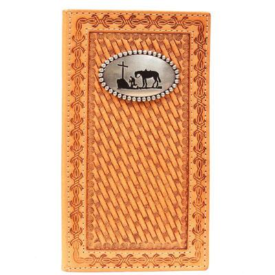 Nocona® Rodeo Cowboy Prayer Basket Weave Mens Wallet