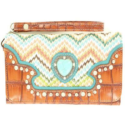 Blazin Roxx® Aztec Chevron Clutch Purse
