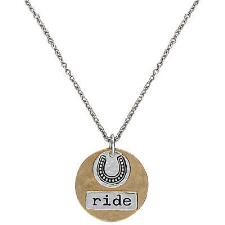 Montana Silversmiths™ Cowgirl Coin Charm Just Ride Necklace