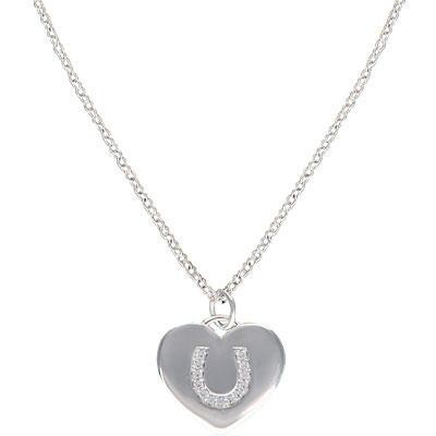 Montana Silversmiths Cowgirl Heart Horseshoe Charm Necklace