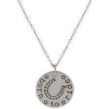 Montana Silversmiths™ Cowgirl Coin Born to Ride Necklace