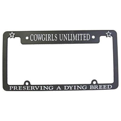 Cowgirls Unlimited A Dying Breed License Plate Frame
