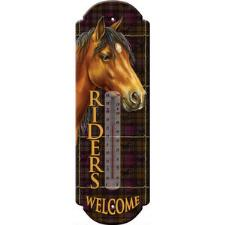 Riders Welcome Tin Thermometer