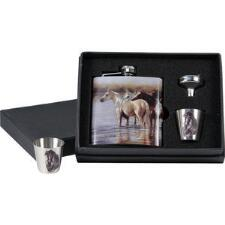 Horse Flask Gift Set