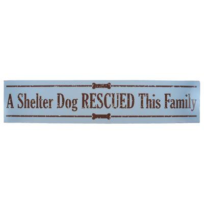 Wood Sign  A Shelter Dog