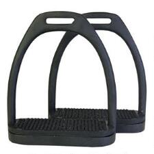 Perris Black Powder Coated Stirrup Irons - TB