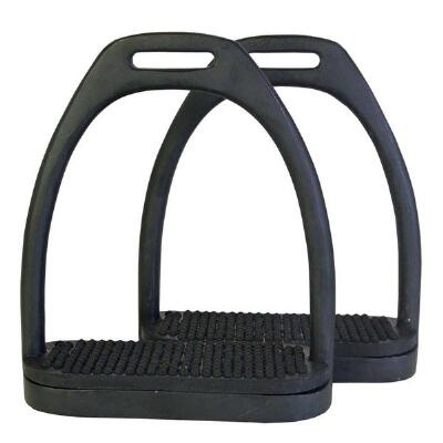 Black Powder Coated Stirrup Irons