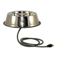 Heated Stainless Steel Pet Bowl - TB
