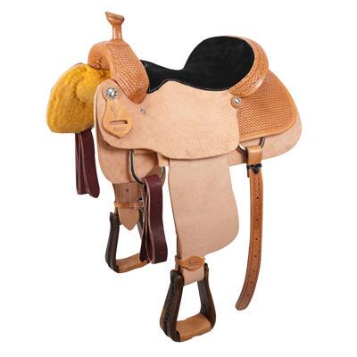 Cactus Saguaro Team Roper Quarter Stamp Western Saddle 15 Inch