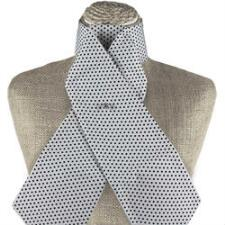 Get Spotted White and Black Stock Tie - TB