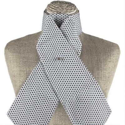 Get Spotted White and Black Stock Tie