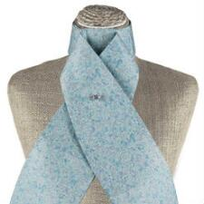 Mini Floral Collection Metallic Baby Blue Stock Tie - TB
