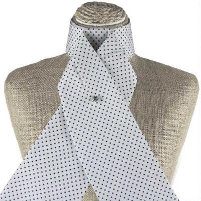 Get Spotted White and Navy Stock Tie