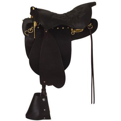 Tucker Montreal Royal Trooper Trail Saddle 17.5 Medium Tree Black