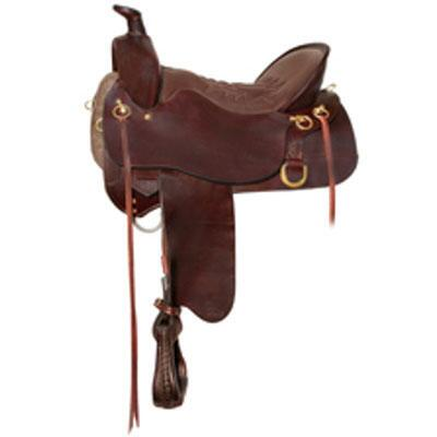 Tucker High Plains Trail Saddle Smooth 16.5 Inch Medium Tree Brown